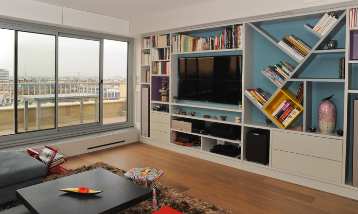 sara camus bouanha architecte d'intérieur Paris, rénovation d'un appartement de130 m2, Paris 11